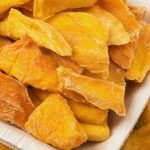 dried mango on a plate